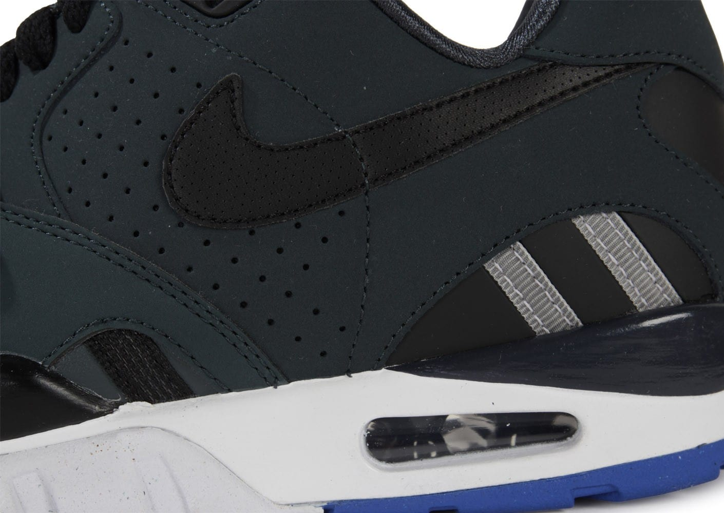 buy popular 40bac a71fb ... Chaussures Nike Air Trainer Sc Ii Low Noire vue dessus