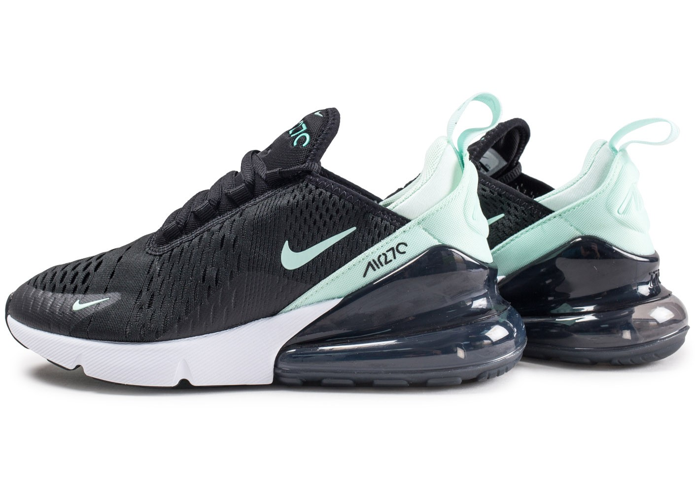 nike air max 270 noire et bleue femme chaussures baskets femme chausport. Black Bedroom Furniture Sets. Home Design Ideas