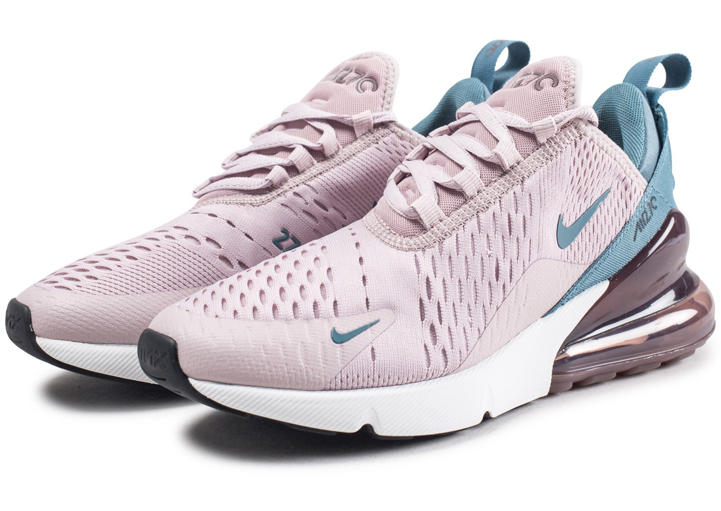 Nike Air Max 270 rose et bleue femme - Chaussures Baskets ...