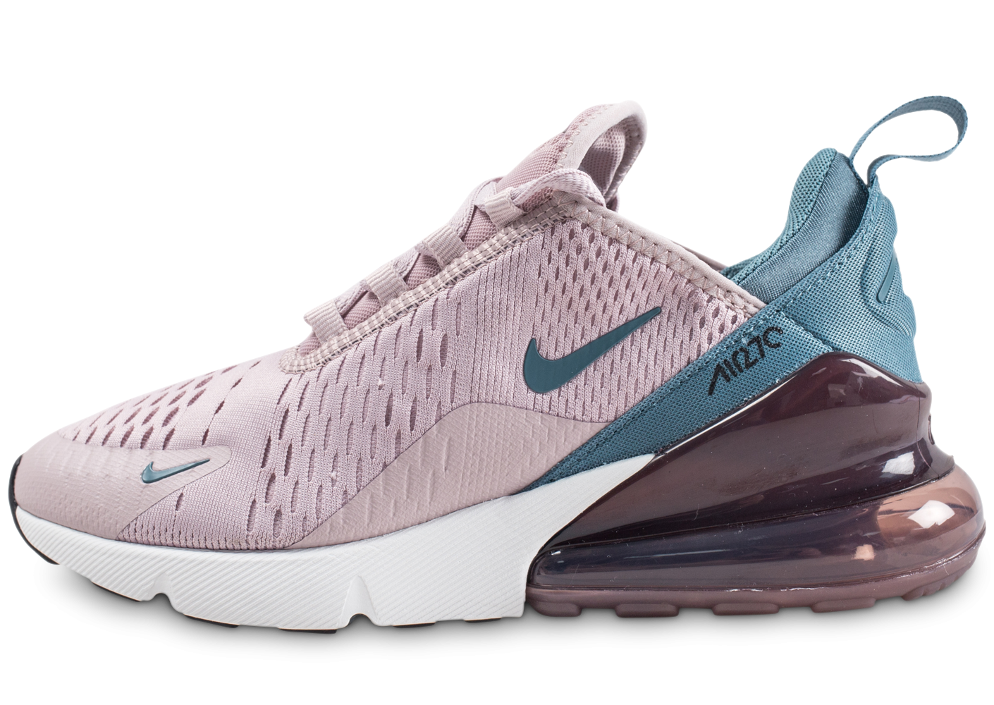 new photos official photos factory outlets Nike Air Max 270 rose et bleue femme