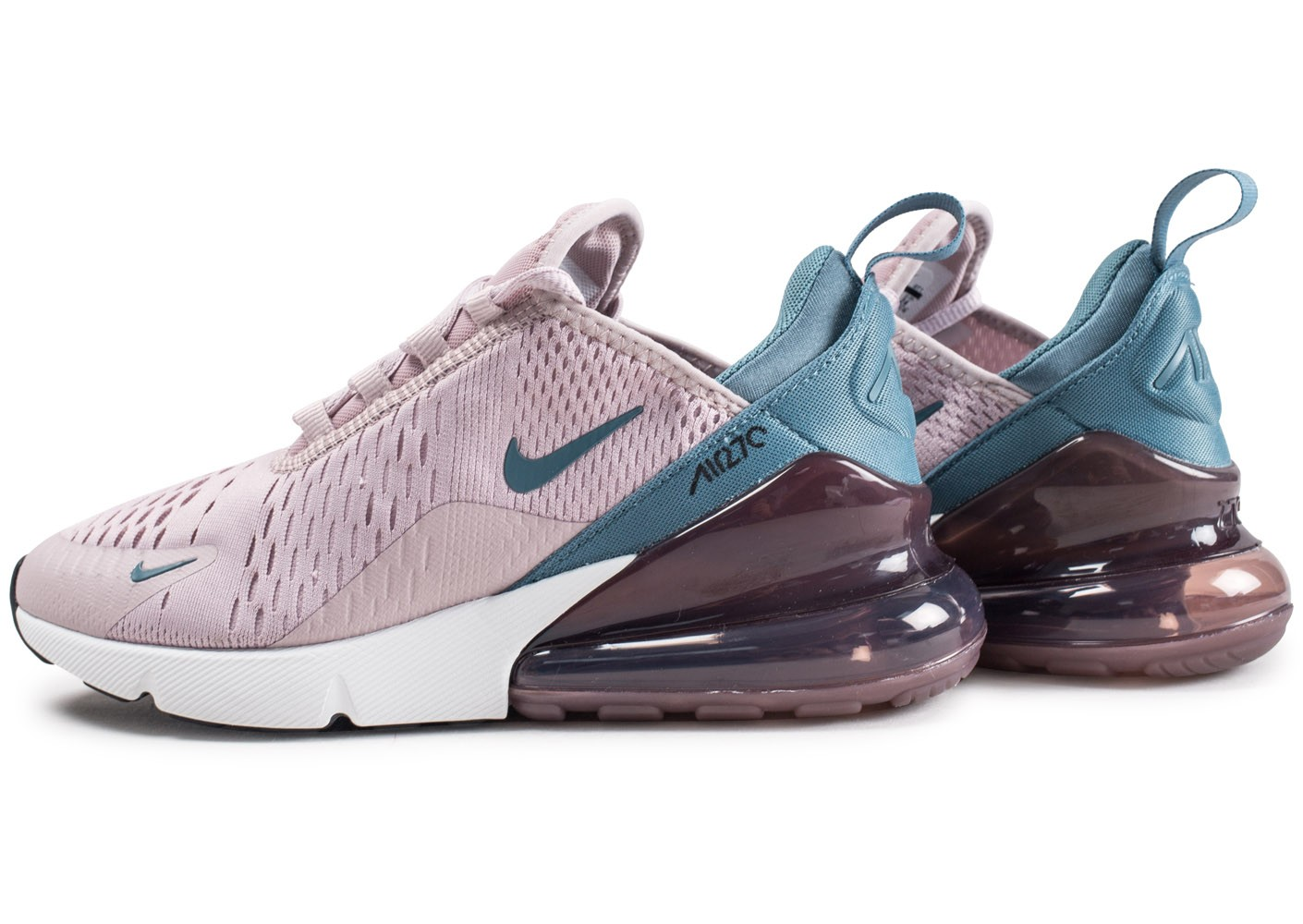 closer at really comfortable premium selection Nike Air Max 270 rose et bleue femme - Chaussures Baskets ...