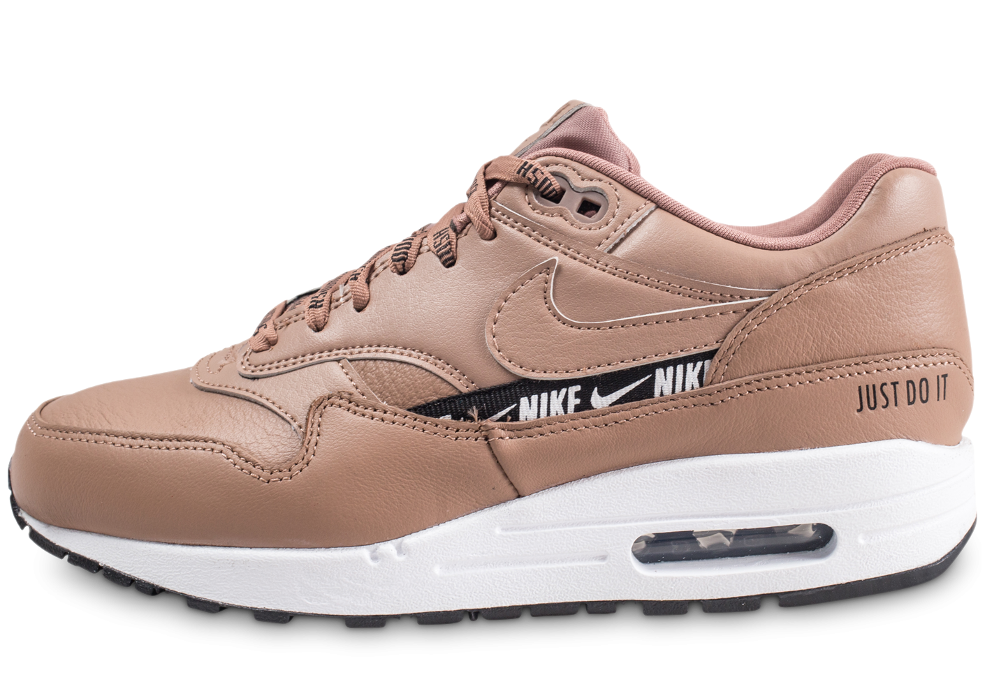 best authentic 88e92 809bd Nike Nike Air Max 1 SE Overbranded beige femme - Chaussures Baskets femme -  Chausport