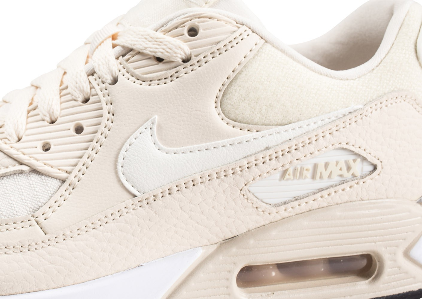Nike Air Max 90 beige et blanche femme - Chaussures Baskets ...