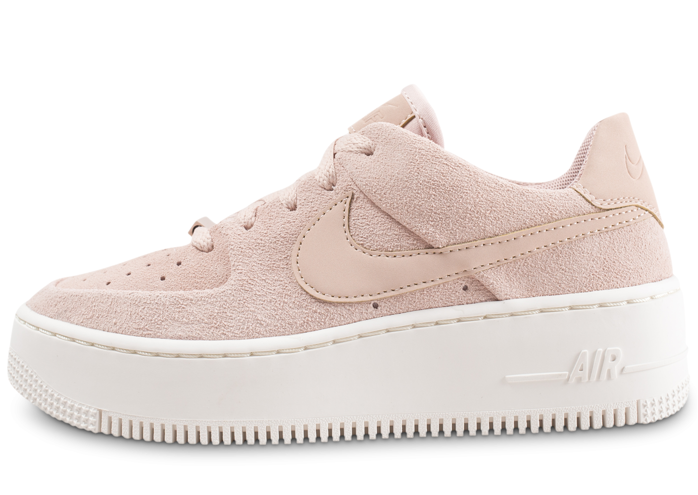 promo code 81220 6a252 Nike Air Force 1 Sage Low rose - Chaussures Baskets femme - Chausport