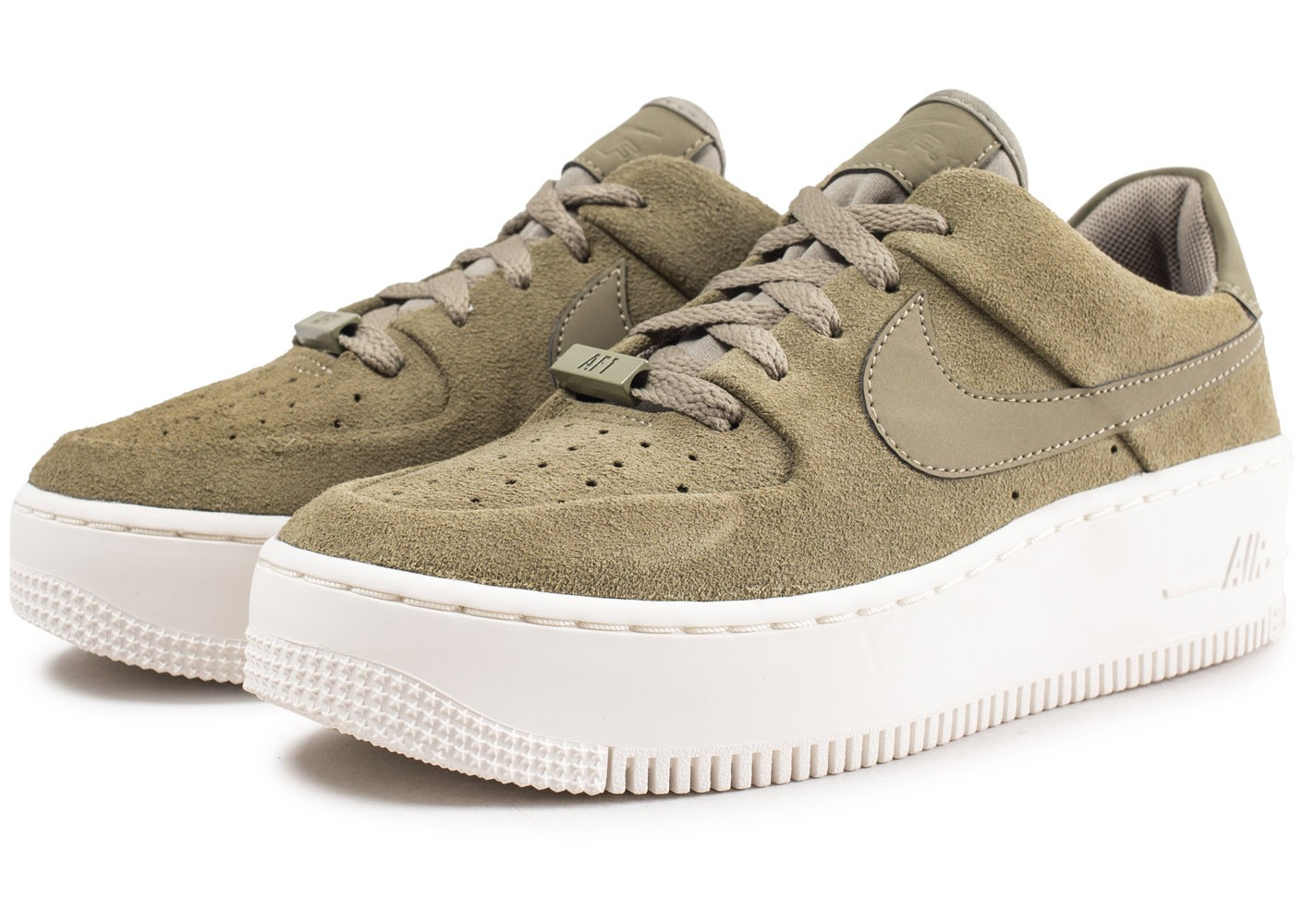 Nike Air Force 1 Sage Low Kaki femme - Chaussures Baskets ...