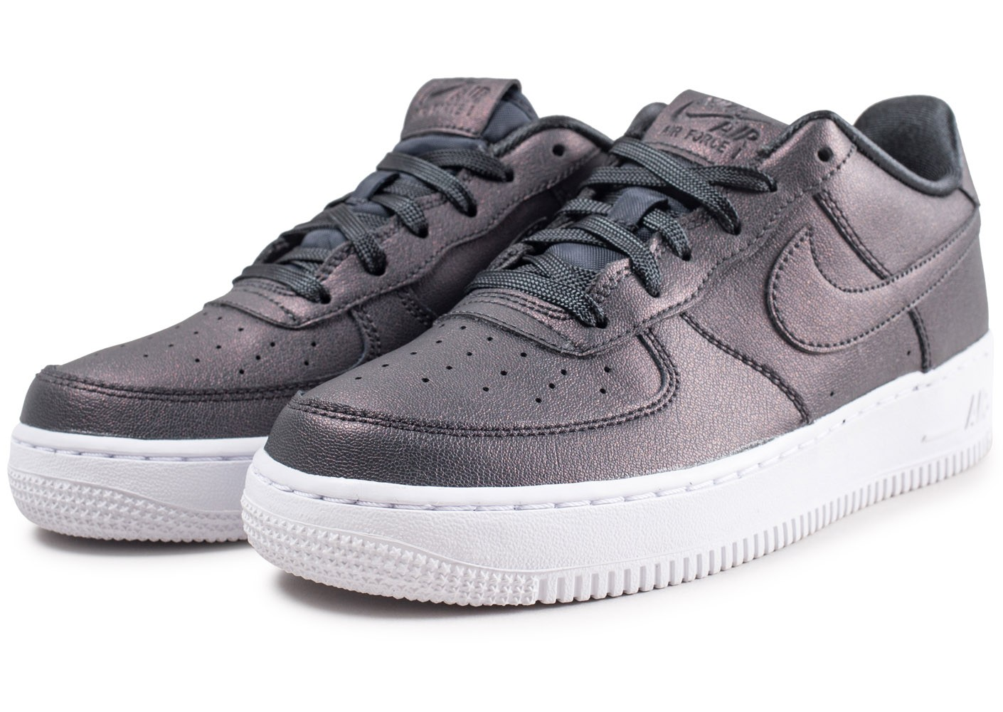 new arrival ffc52 35c6f ... Chaussures Nike Air Force 1 SS anthracite junior vue intérieure ...