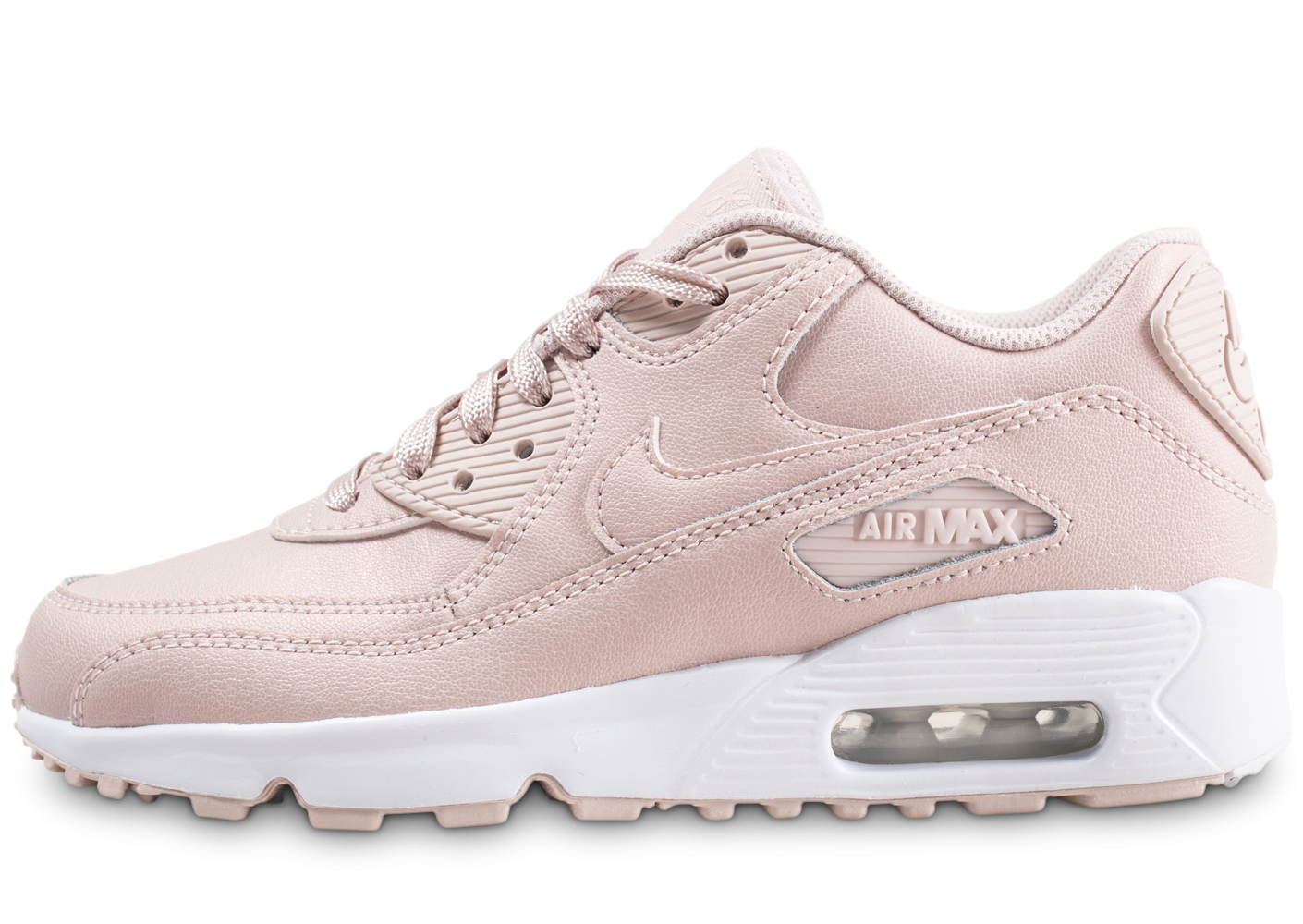 online retailer e4b80 10247 Nike Air Max 90 Leather SS rose junior - Chaussures Enfant - Chausport