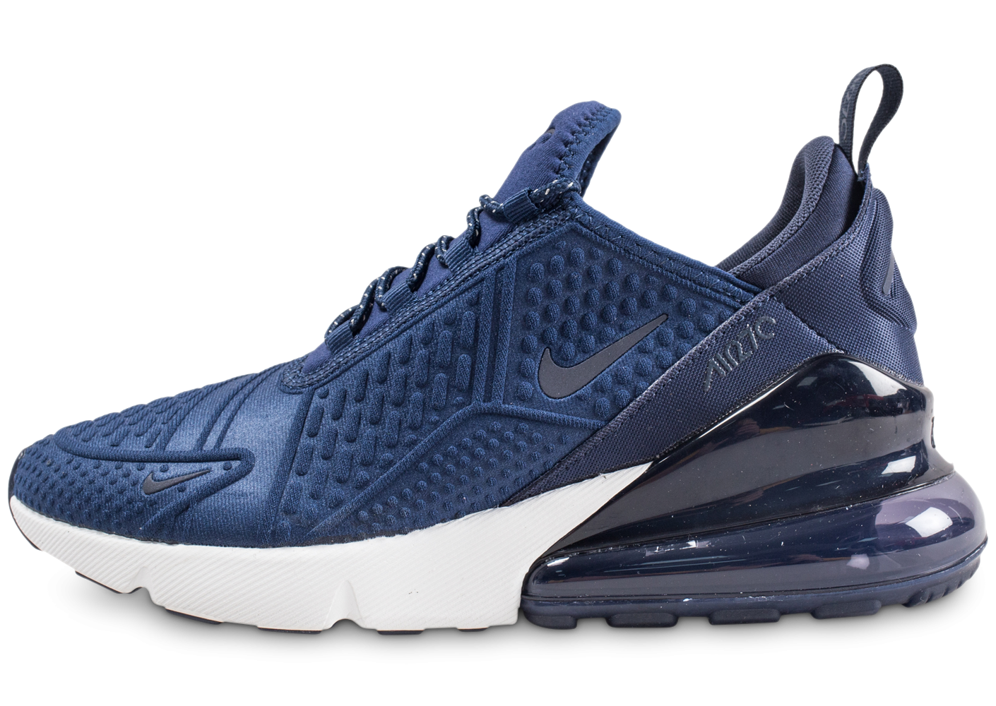 photos officielles ed53d 43949 Nike Air Max 270 bleu marine junior