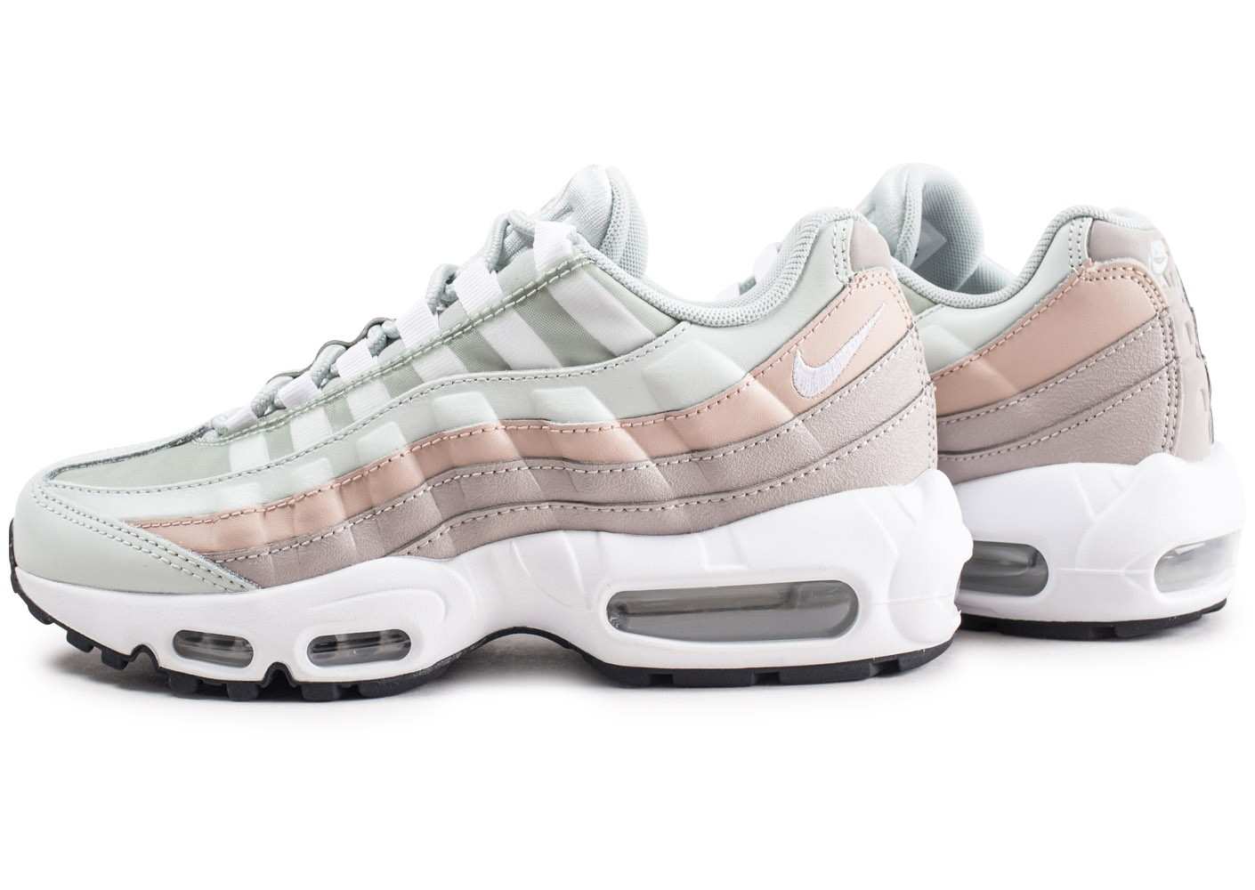Nike Nike Air Max 95 argent et beige Chaussures Baskets