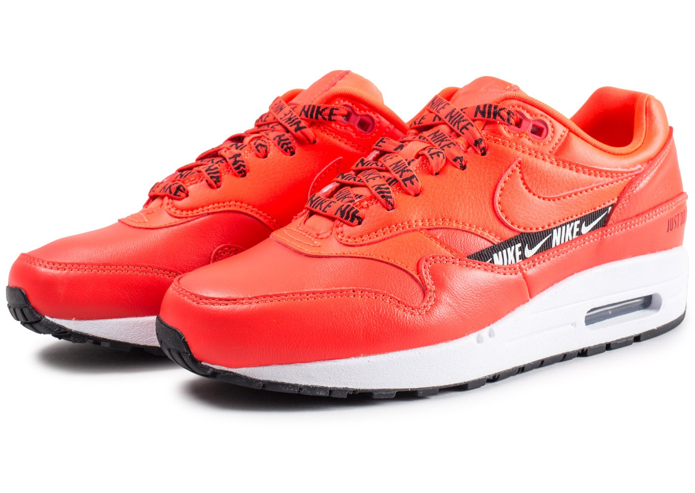 prix d'usine c5dfe 7e12a Nike Air Max 1 SE Overbranded rouge femme - Chaussures ...