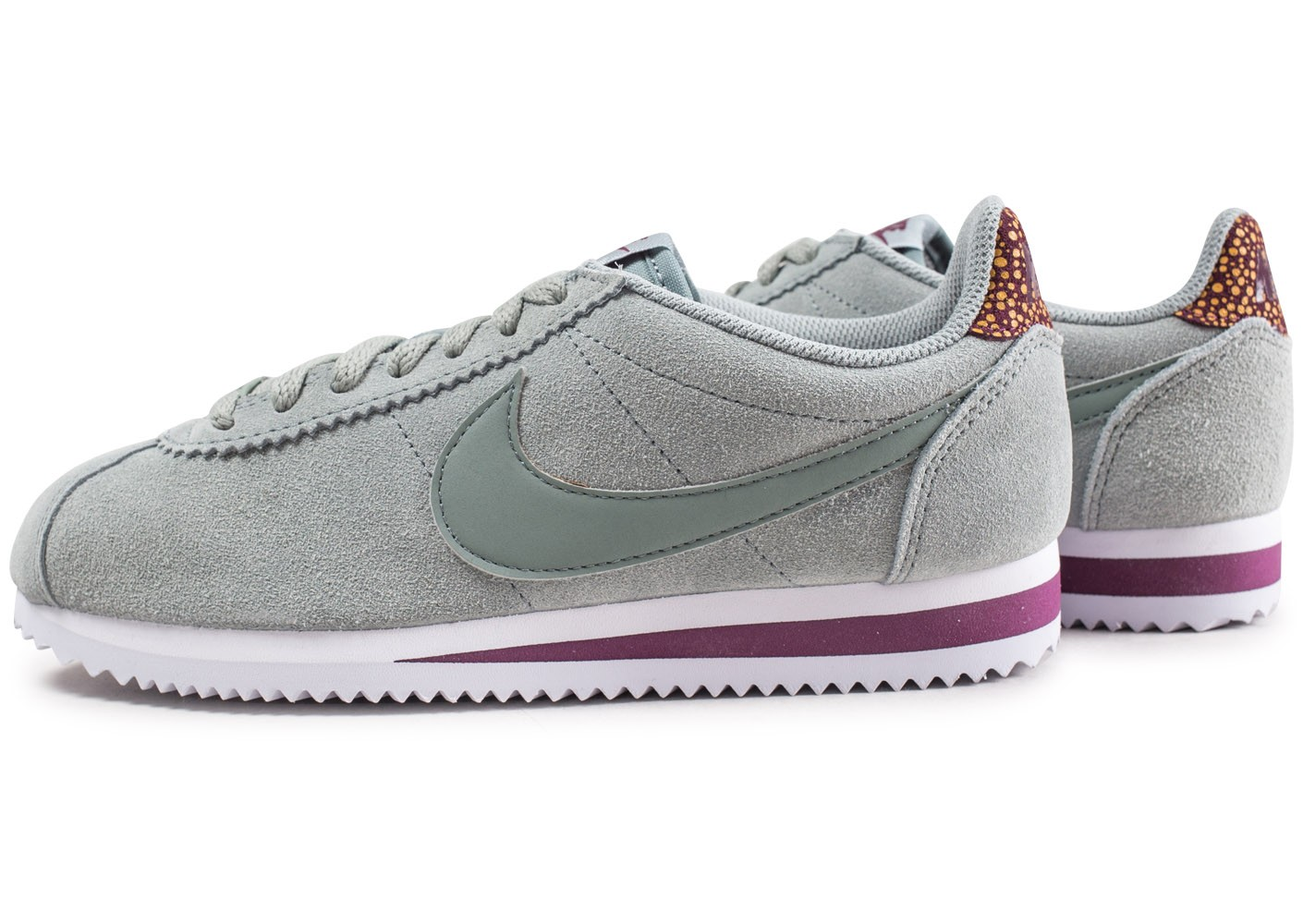 new products 963d4 65449 Premium Vert Chaussures Baskets Nike Femme Cortez Classic Bxqw88g6E