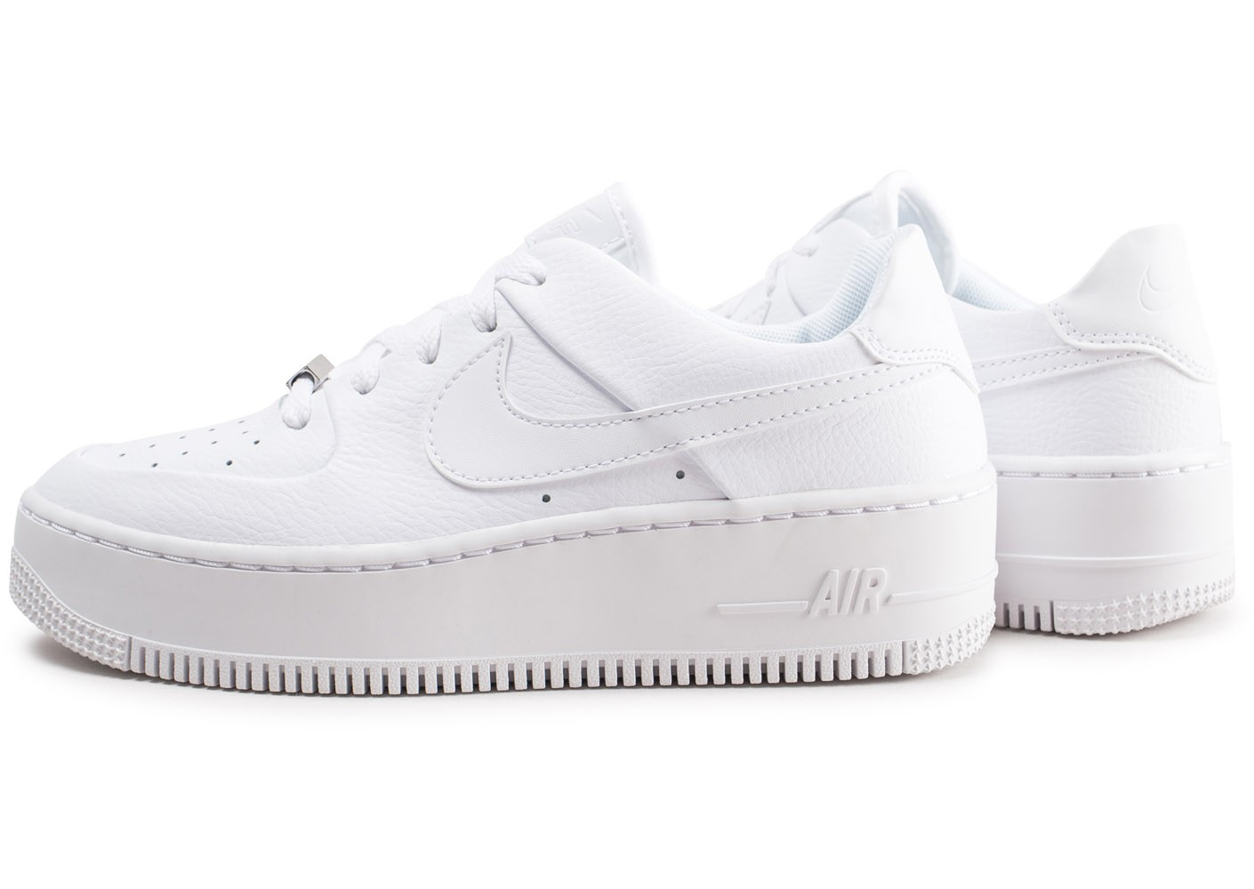 Nike Air Force 1 Sage Low triple blanc femme - Chaussures ...