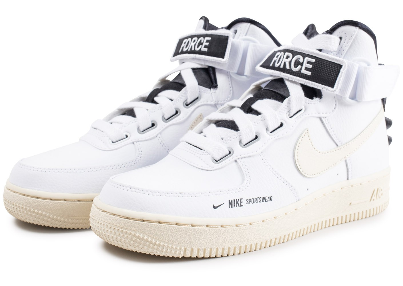 la moitié ad450 af1b4 Nike Air Force 1 High Utilty blanche femme - Chaussures ...