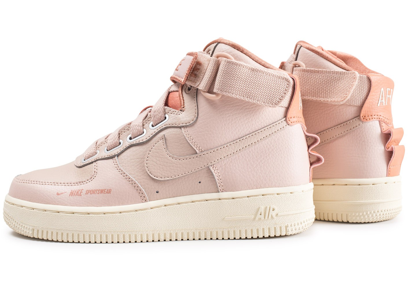 air force 1 high utility blanche femme