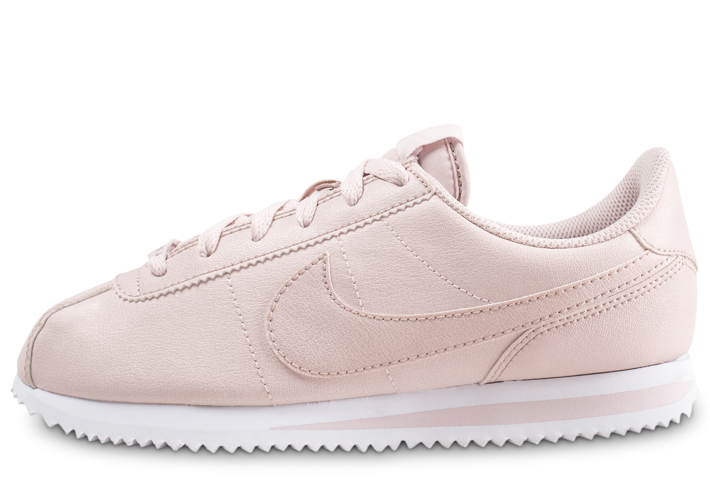 sports shoes 300fc 5bff0 Nike Cortez Basic rose et blanche junior - Chaussures Enfant - Chausport