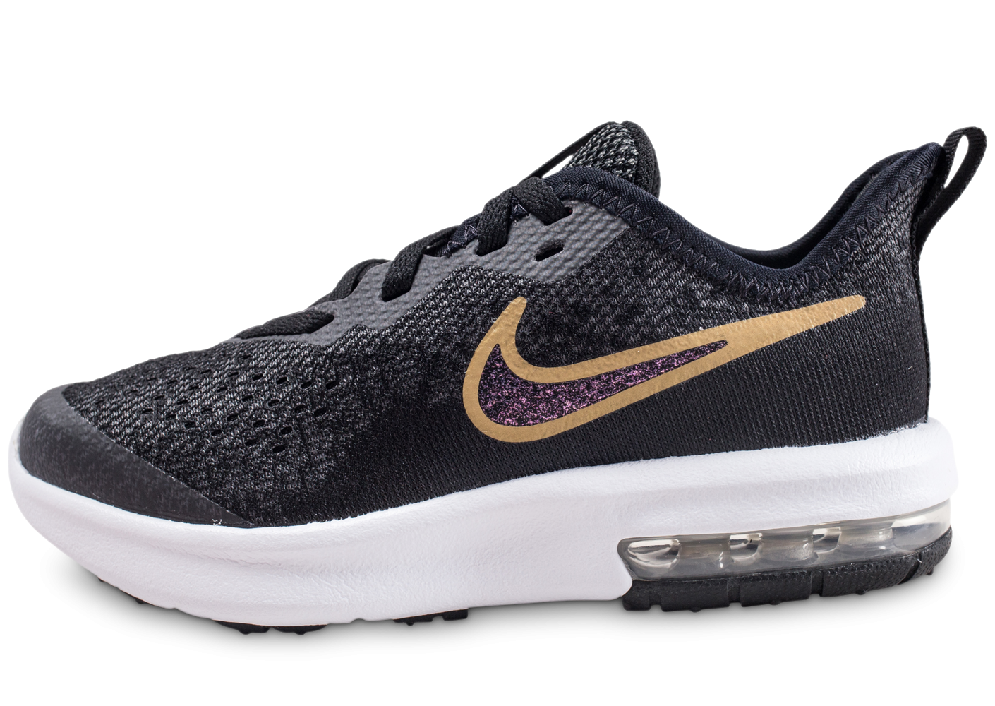 low priced 1a9a2 5e891 Nike Air Max Sequent noir et or enfant - Chaussures Enfant - Chausport