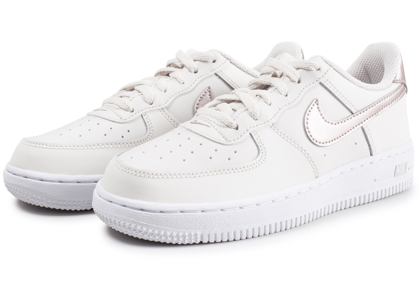 air force 1 low blanc or rose femme