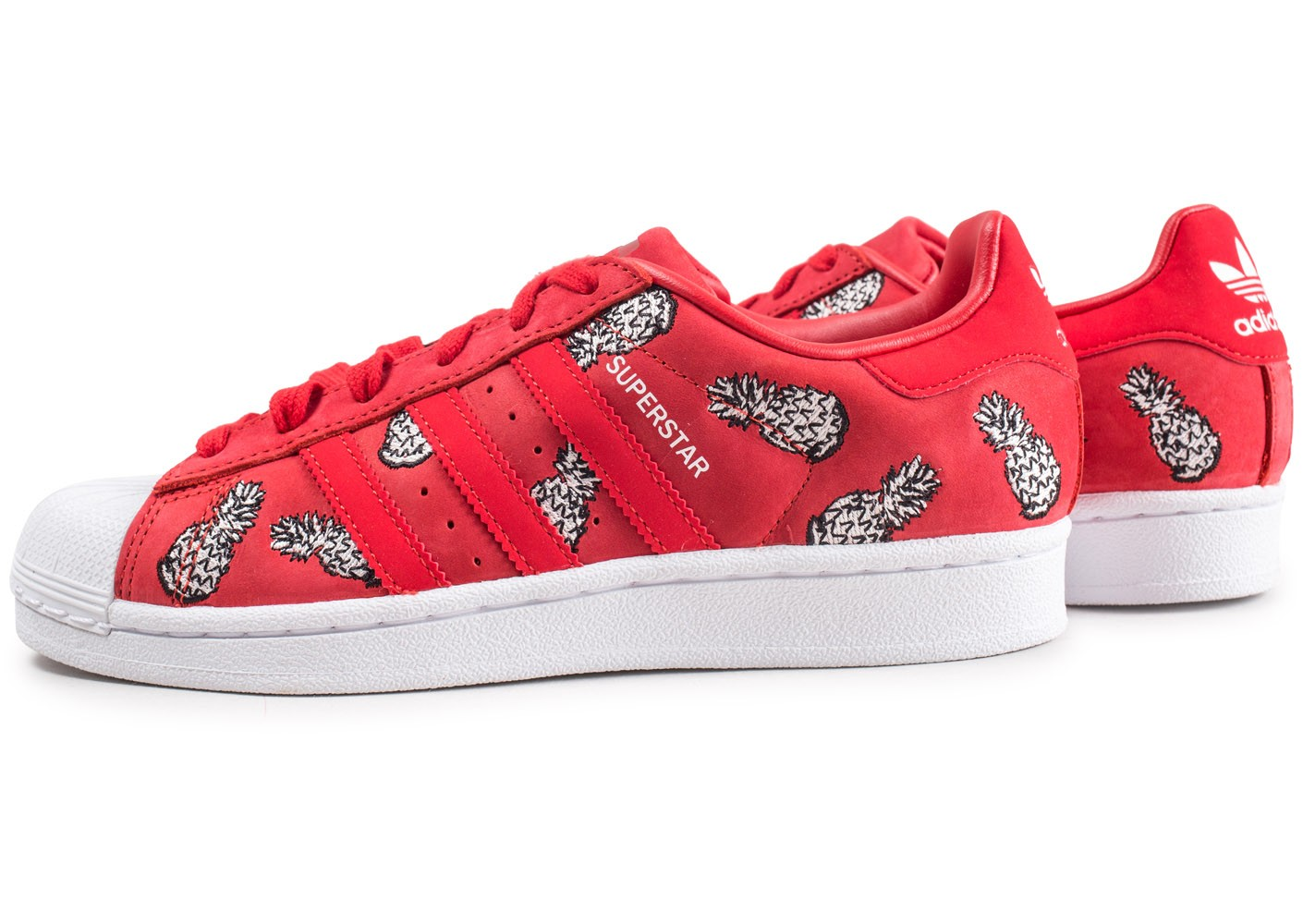 adidas Superstar The Farm Company rouge femme - Chaussures ...
