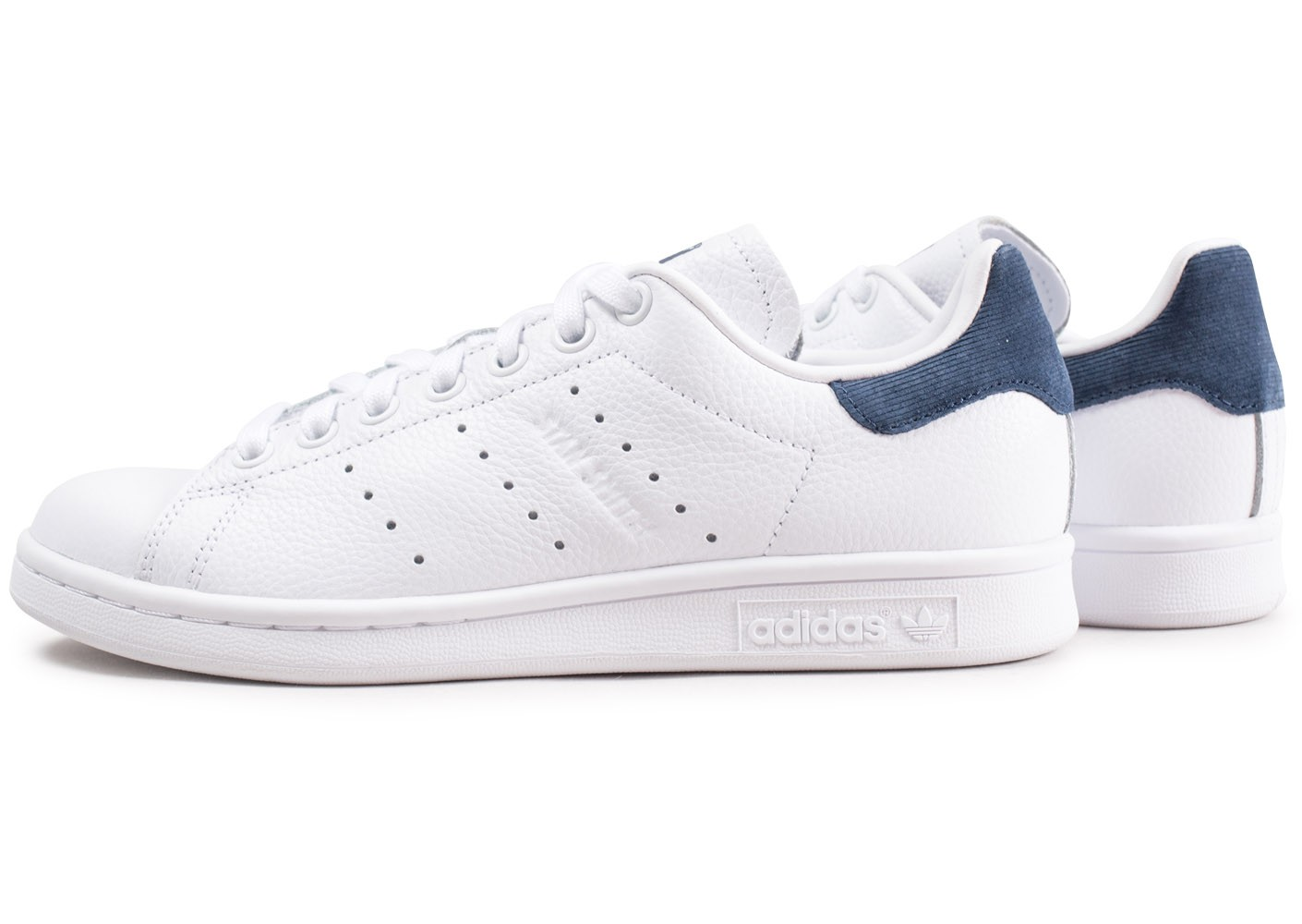 adidas Stan Smith blanche et bleue femme - Chaussures adidas ...