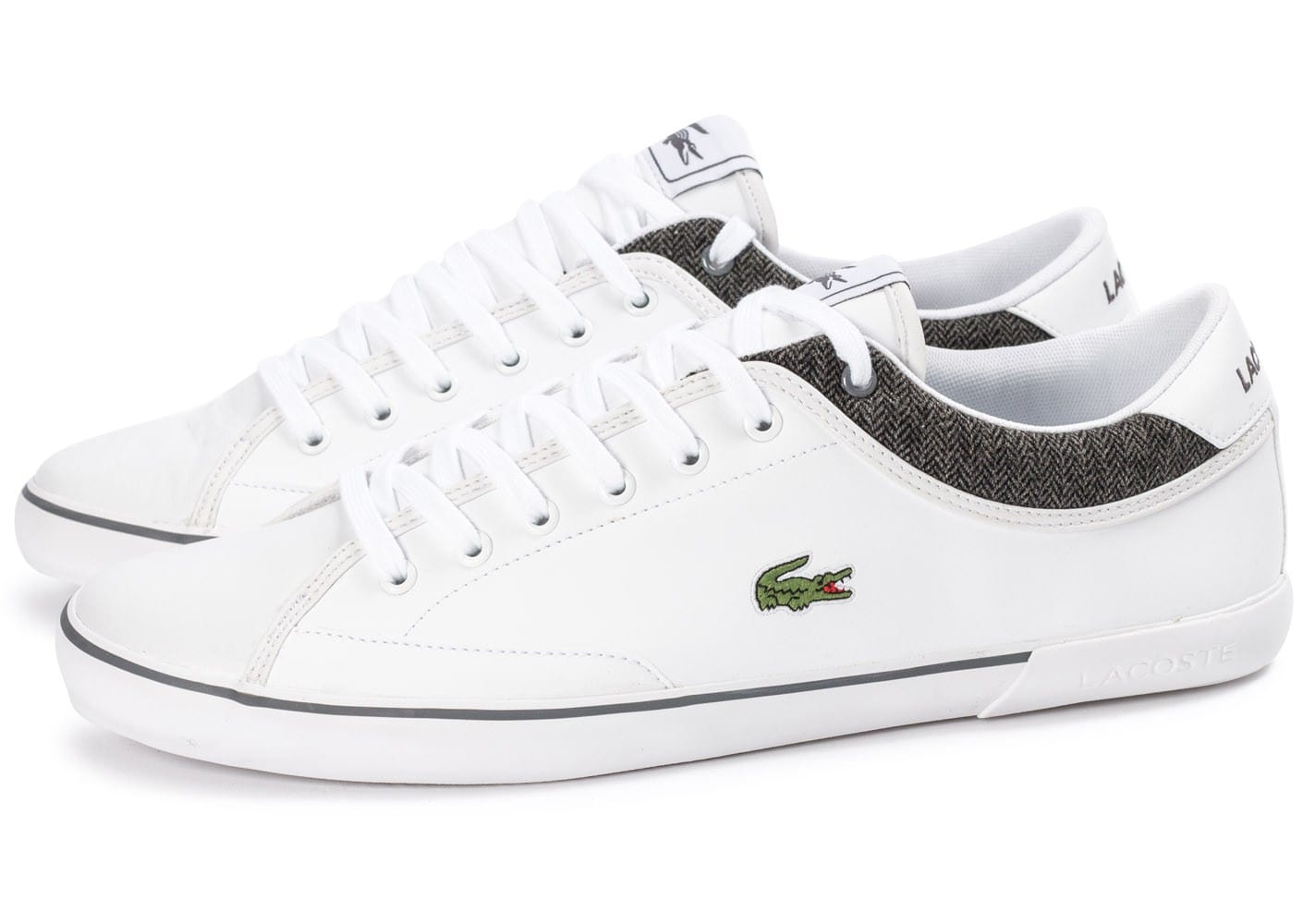 Chausport Angha Homme Blanche Lacoste Chaussures Baskets Cuir srCtxhQd
