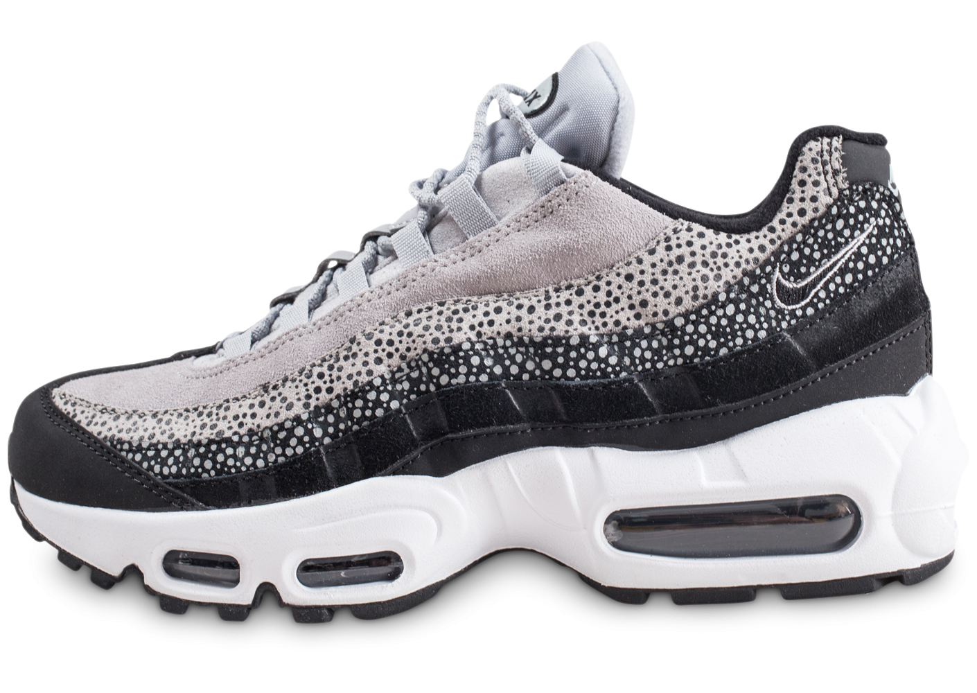 the best attitude f5a63 080e4 Nike Air Max 95 Premium Contrast grise femme - Chaussures Baskets femme -  Chausport