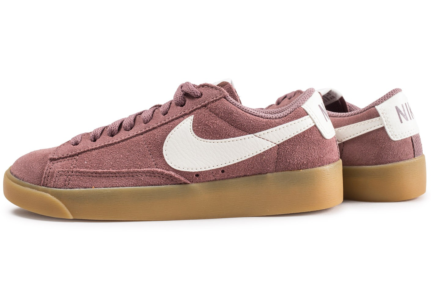 huge discount d46fa 00f82 ... where can i buy cliquez pour zoomer chaussures nike blazer low suede  smokey mauve femme vue