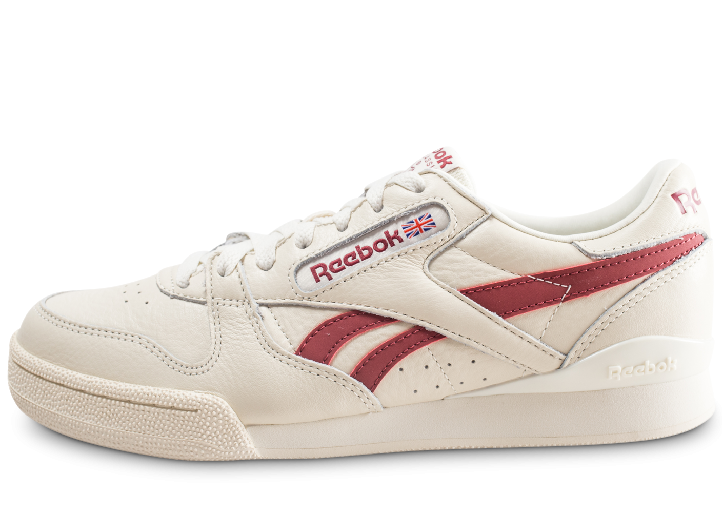 3bf3e602a4c6d Reebok Phase 1 Pro blanche et rouge - Chaussures Baskets homme - Chausport