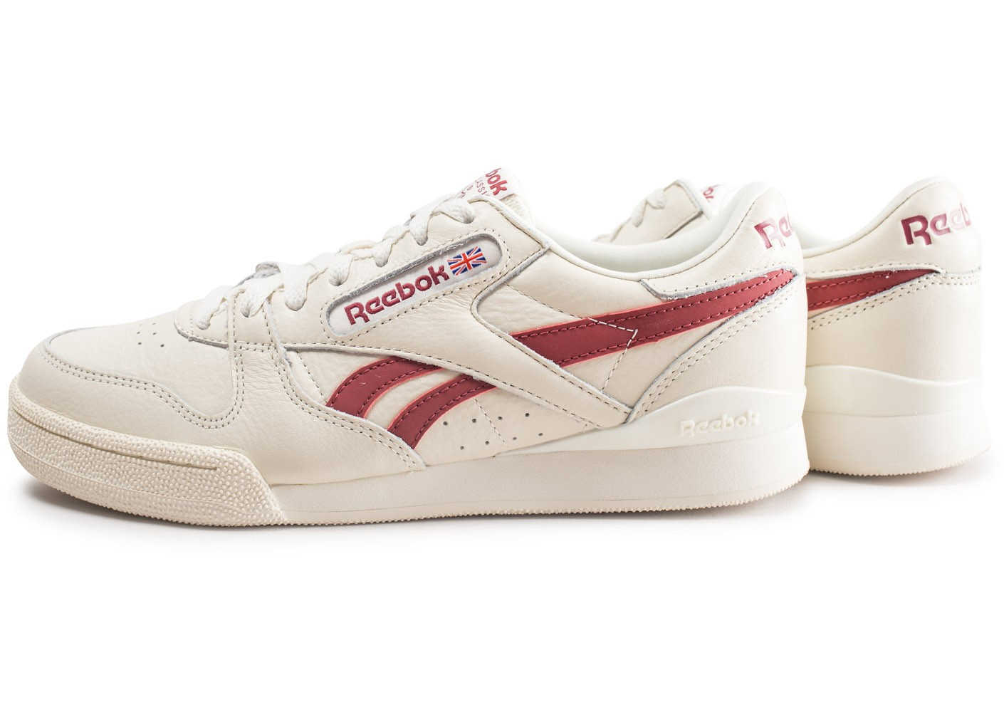 Reebok Phase 1 Pro blanche et rouge Chaussures Baskets