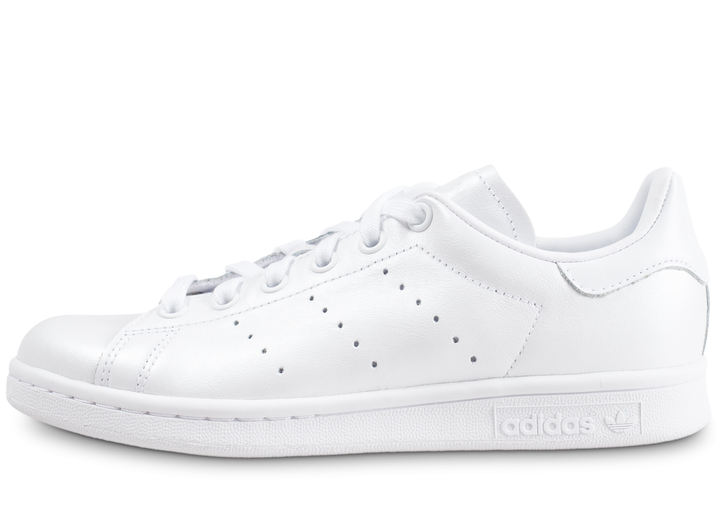 usine authentique 07822 eac22 adidas Stan Smith triple blanc shinny femme