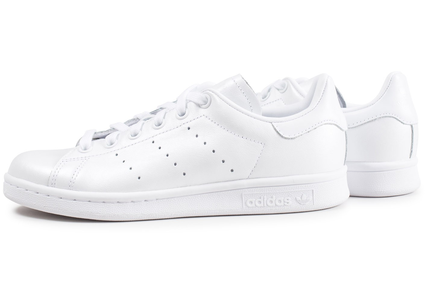 adidas Stan Smith triple blanc shinny femme - Chaussures ...