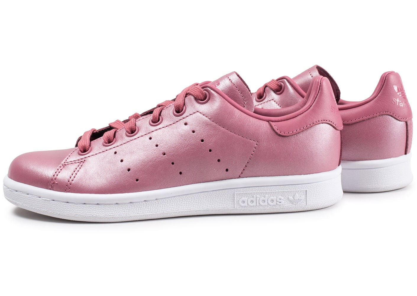 adidas Stan Smith Shiny rose femme - Chaussures adidas ...