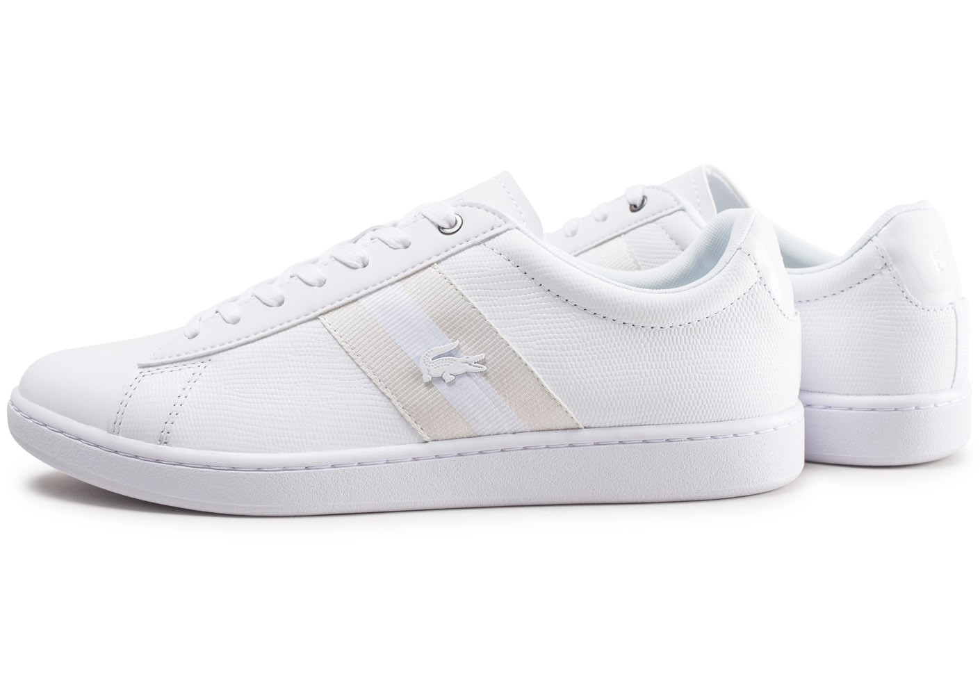 1cfbd3b371 Baskets Lacoste Evo Blanche Chaussures Chausport Carnaby Homme iTOkXZuP