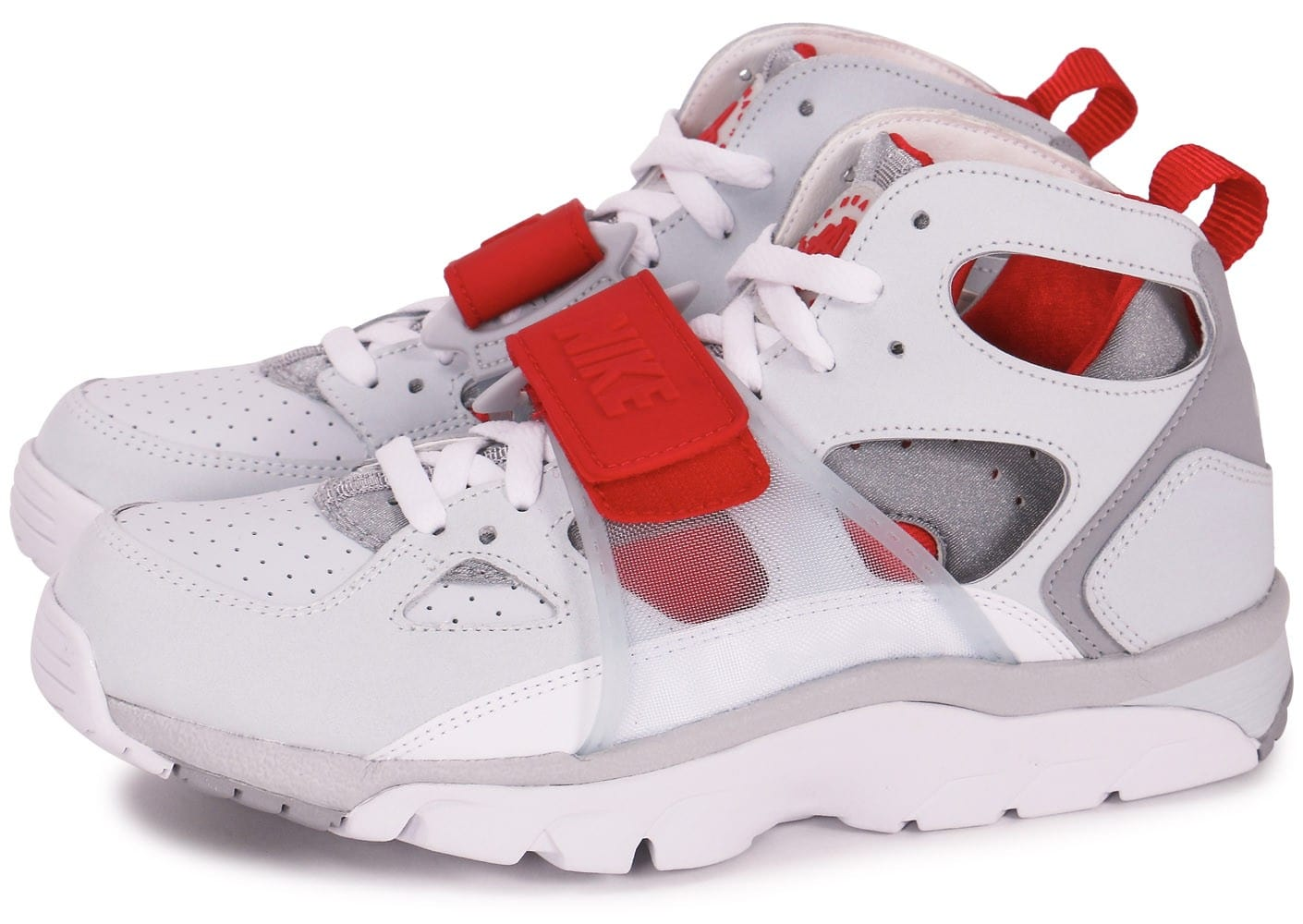 Nike Air Trainer Huarache Blanche Et Rouge - Chaussures ...