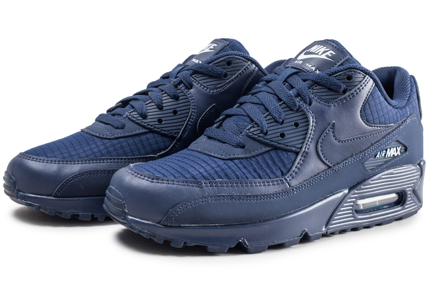 Nike Air Max 90 Essential bleu marine - Chaussures Baskets ...