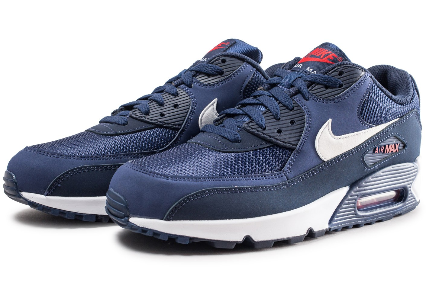 competitive price 4377b 167f5 ... Chaussures Nike Air Max 90 Essential bleue et blanche vue intérieure ...