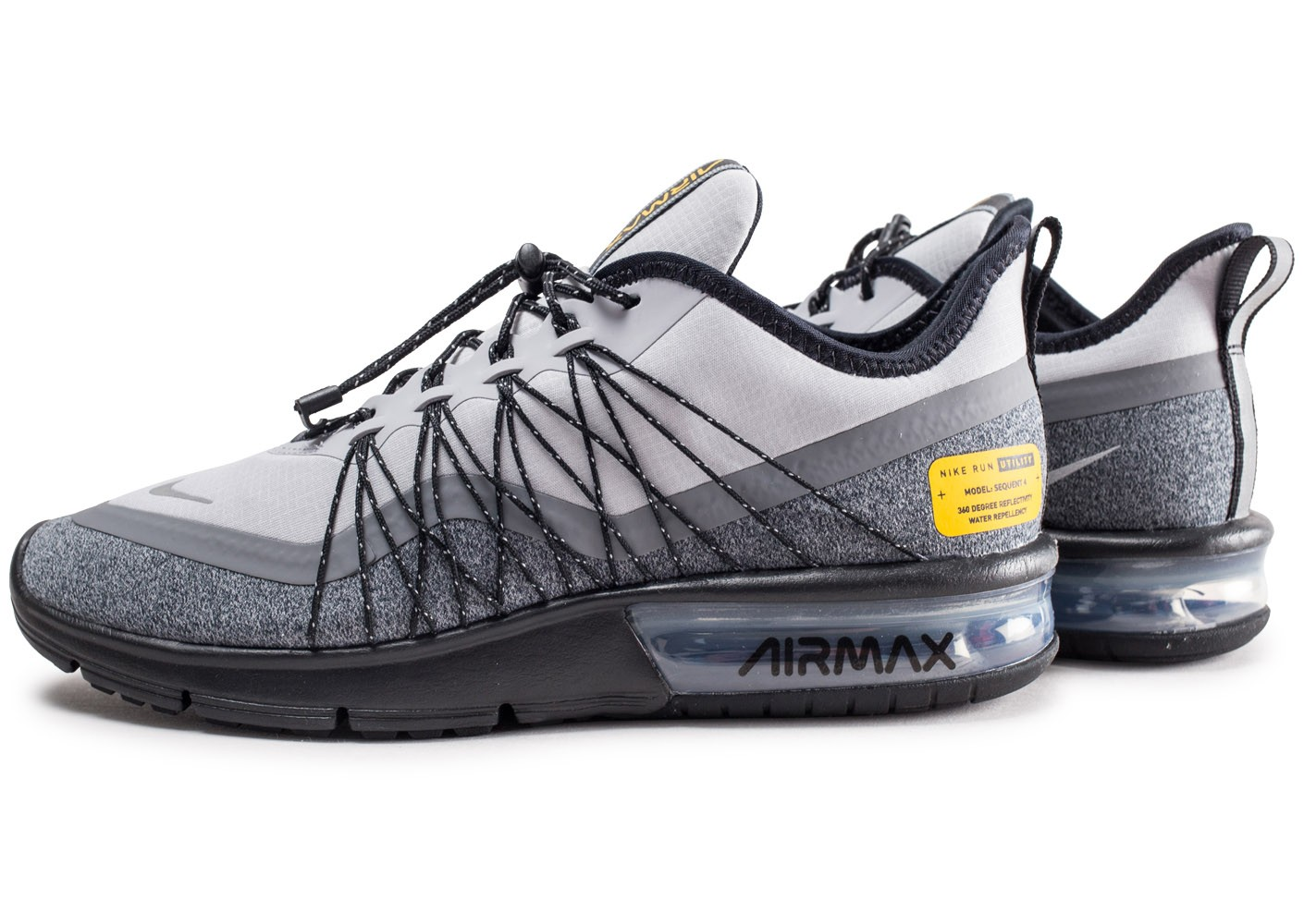 air max sequent 4 shield noire et orange