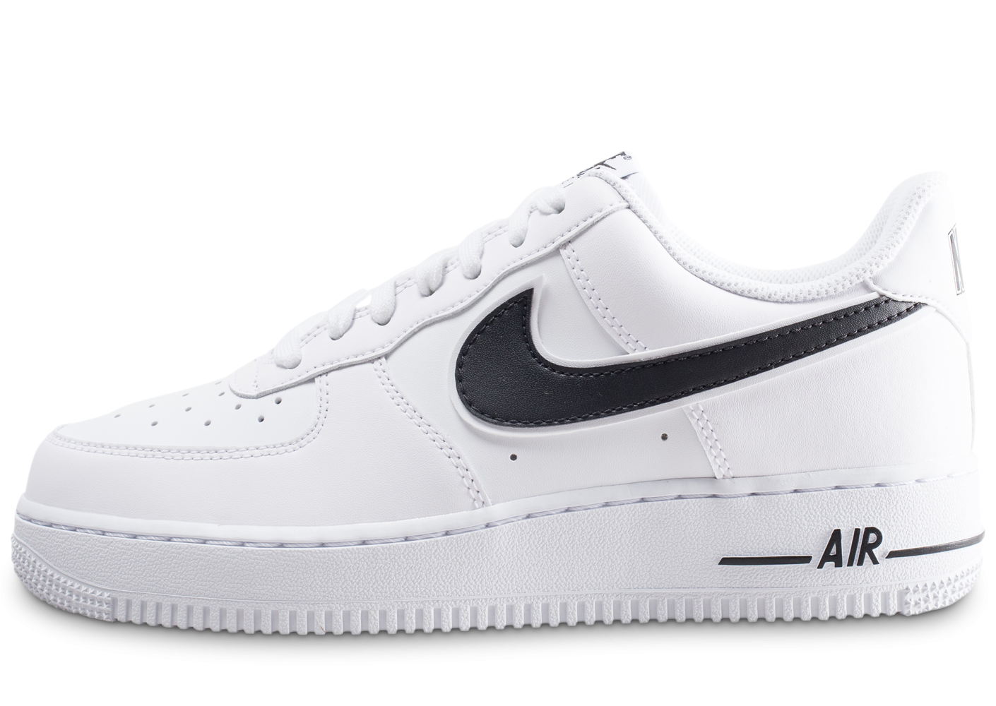 cheaper 061d3 f84f8 Nike Air Force 1  07 blanc et noire - Chaussures Baskets homme - Chausport