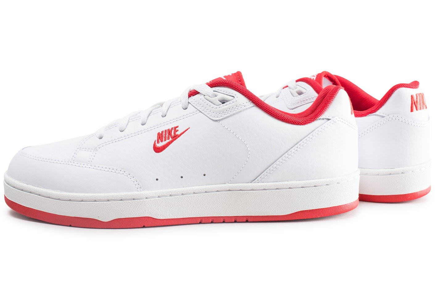 Homme 2 Nike Rouge Chaussures Baskets Et Blanche Grandstand Nmw08n