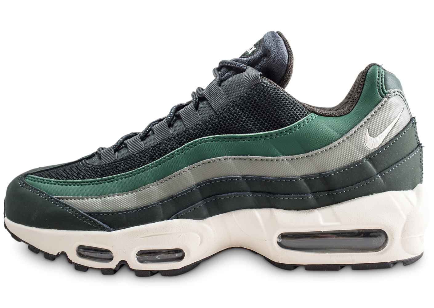 competitive price d1166 752c5 Nike Air Max 95 essential verte - Chaussures Baskets homme - Chausport