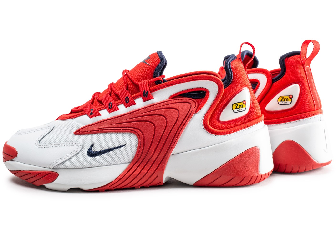 Nike Zoom 2K blanche et rouge - Chaussures Baskets homme ...