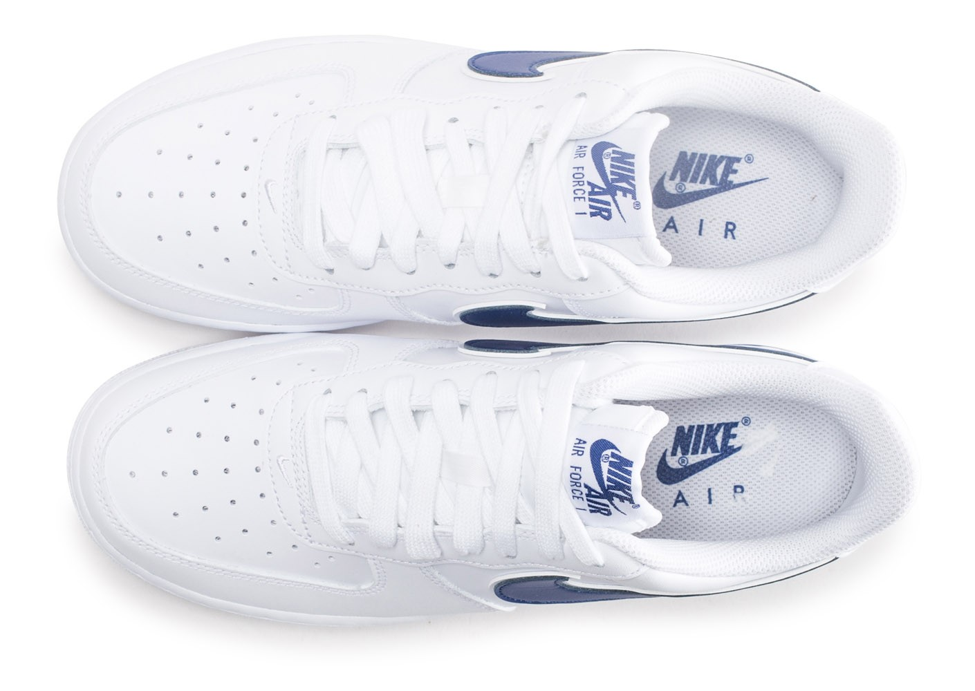 Nike Air Force 1 '07 blanche et bleue marine Chaussures