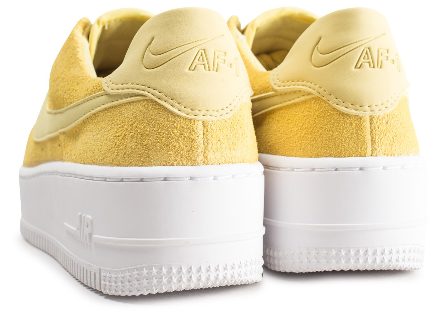 Nike Air Force 1 Sage Low jaune femme - Chaussures Baskets ...