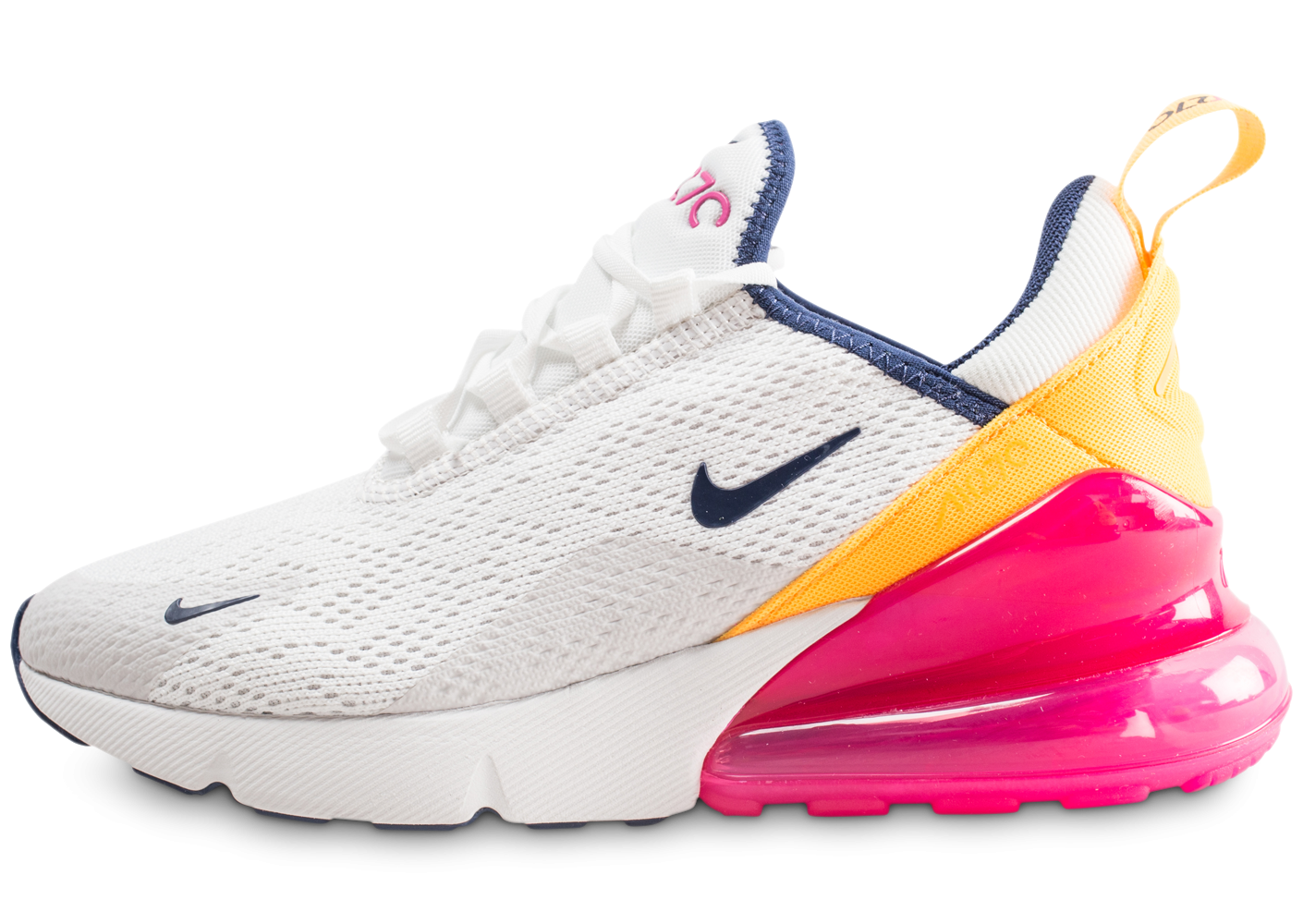 Nike Air Max 270 blanc fuchsia et orange femme