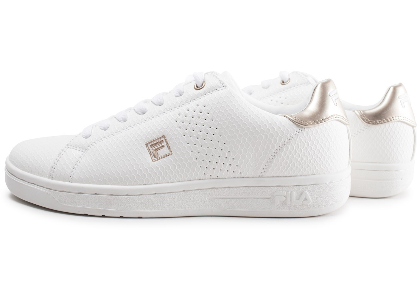 Fila Crosscourt Or Chaussures Femme Baskets Et Blanche O0nwkP