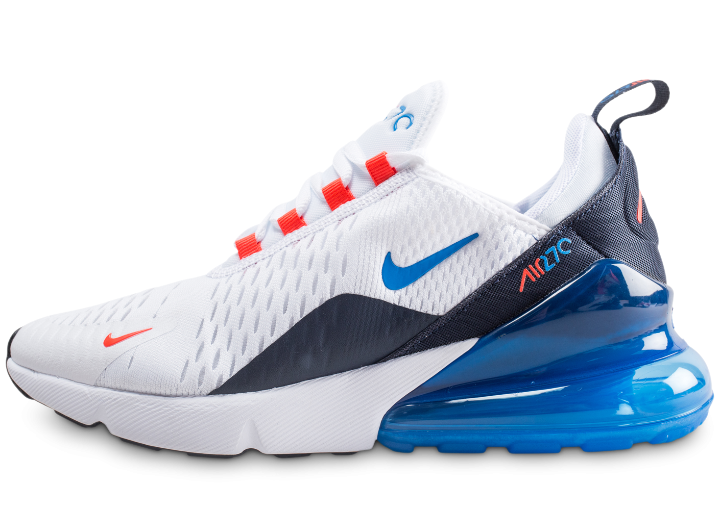 the latest 023b3 a5a7e Nike Air Max 270 blanche et bleue junior