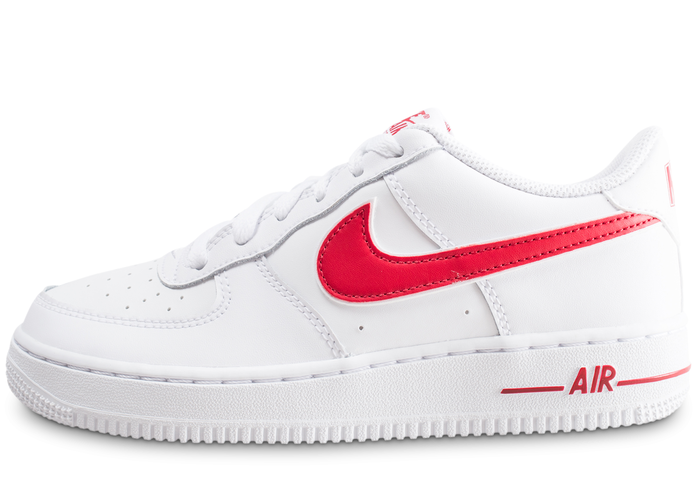 Nike Air Force 1 Low blanche et rouge junior