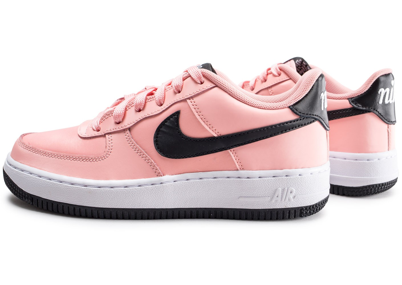 Nike Air Force 1 Vday rose et noire junior Chaussures