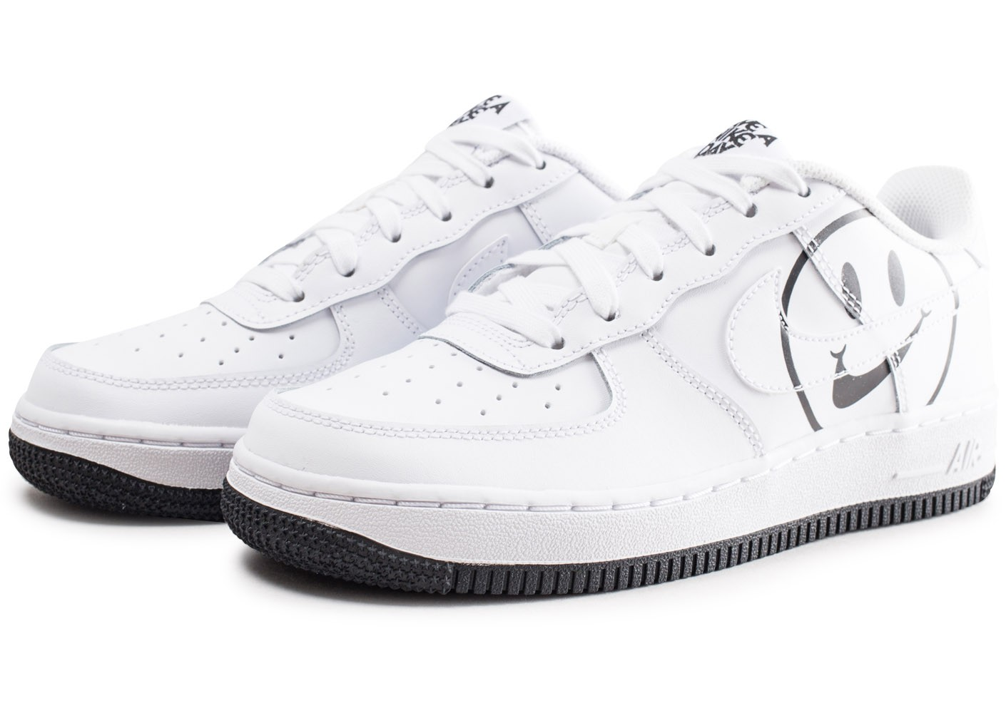 free shipping 01da7 50cc5 ... Chaussures Nike Air Force 1 LV8 blanche Have a Nike Day junior vue  intérieure ...