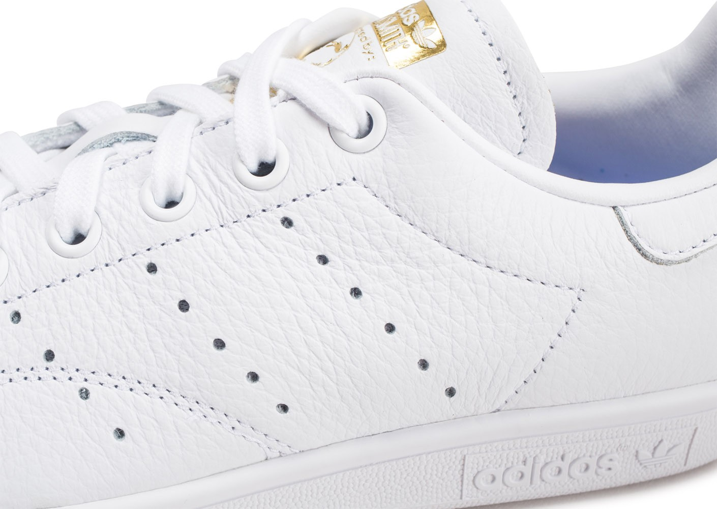 adidas Stan Smith blanche lila et or femme Chaussures