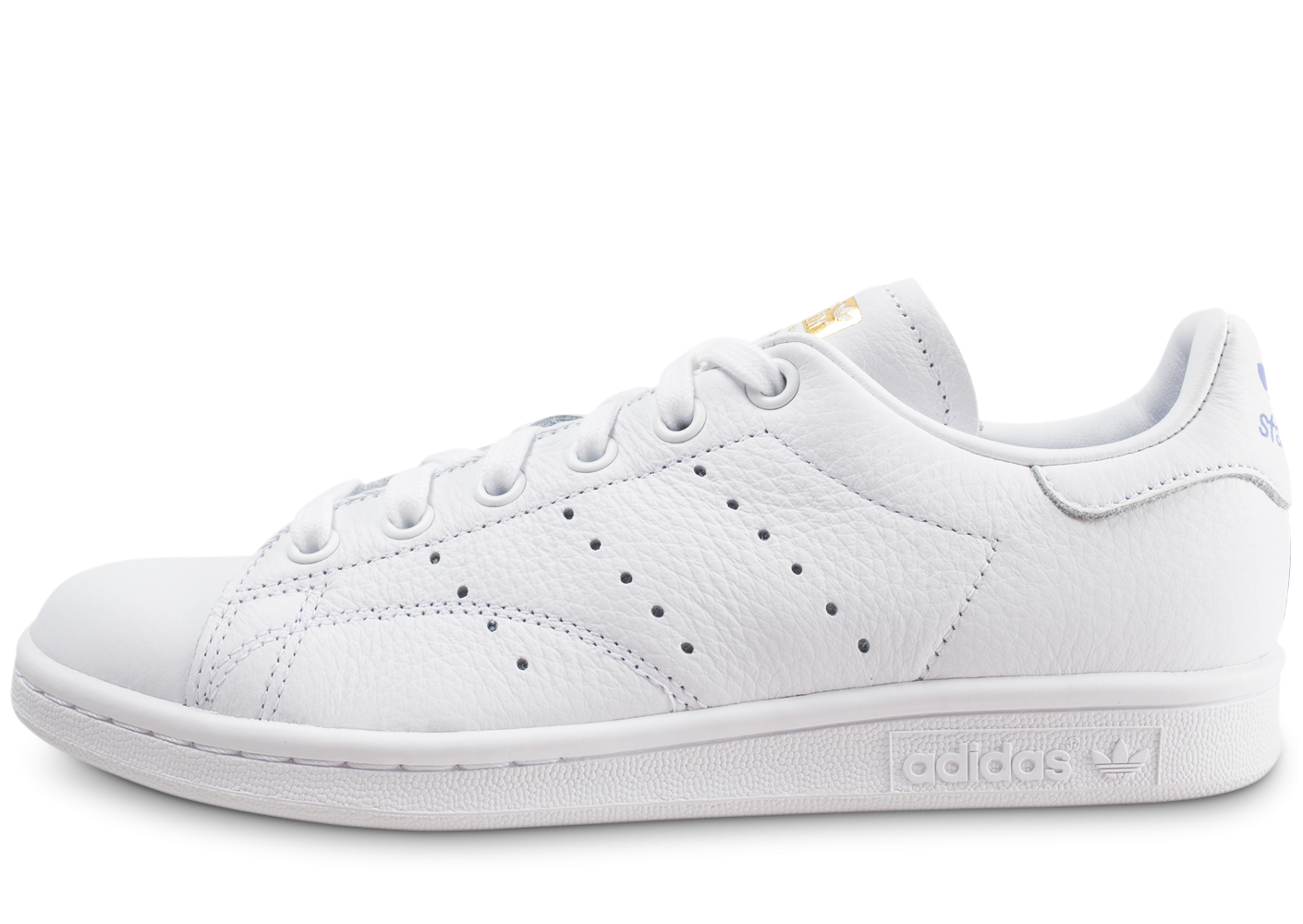 c708e6075 adidas Stan Smith blanche lila et or femme